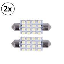 2x Bombilla Coche C5W 3528SMD 16 LED 12V Luz Interior Vehículo Automovil 2xm78