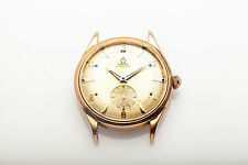 Vintage 1950s OMEGA 14k Yellow Gold Automatic 36mm Mens Watch HEAVY 2662