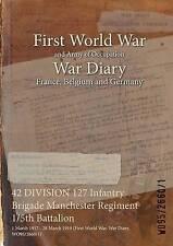 42 Division 127 Infantry Brigade Manchester Regiment 1/5th Battalion: 1 March...