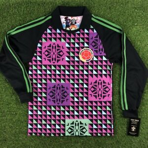 "Colombia Men's Retro Soccer Jersey, WC 1990, Goal Keeper ""Replica"""