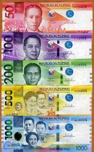SET Philippines, 50-100-200-500-1000 Piso, 2020, P-New UNC