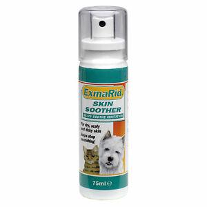 Dog Cat ExmaRid Skin Soother x 75 Ml aloe vera, tea tree and vitamin E Mint Frag