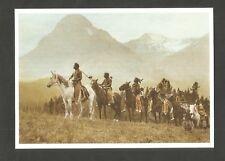 CARTE POSTALE INDIEN AMERIQUE CHEVAL  GUERRIERS BLACKFOOT  caballo PFERDE