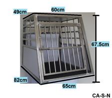 Hundetransportbox Hundebox, Stahl, mit Matte A-CA-S-NEU