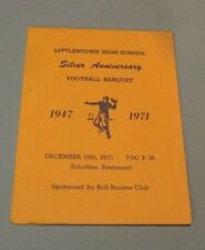 1971 Littlestown High School Football Banquet Program Pennsylvania Sports