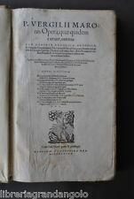 Libri Antichi Classici Latini Virgilio Georgiche Bucoliche Eneide Basilea 1575