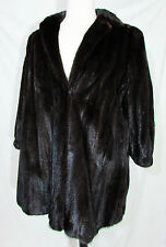 FLIER FURS BEVERLY HILLS MAHOGANY  MINK 3/4 LENGTH FUR COAT GORGEOUS MUST SEE!