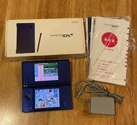 Nintendo DSi DS i JAPAN Ver. Handheld Console Metallic Blue in Box