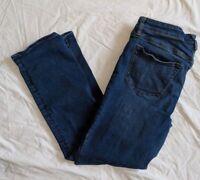 Lands End Womens Denim Straight Leg Jeans Wash Size 10