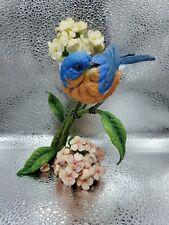 """Danbury Mint """"Summers song"""" Bluebird Bird Statue Sculpture By Bob Guge 7"""" Tall"""