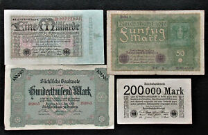 Set of 12 Germany Old Paper Money
