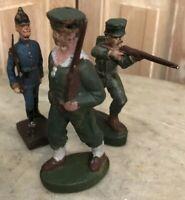 Lot de 3 Soldat Ancien Vintage Jouet Toy Soldier Collection