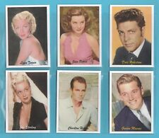 JF SPORTING COLLECTIBLES - SET OF XL 24 FAMOUS FILM STARS 1940/50s 3RD SERIES