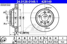 2x Bremsscheibe für Bremsanlage Hinterachse ATE 24.0128-0149.1