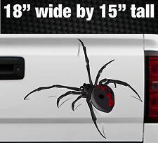 3D Spider Crawling Black Widow Tailgate Hood Window Vinyl Decal Vehicle Truck