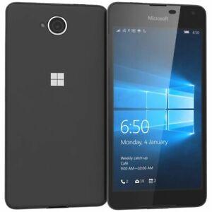 MICROSOFT LUMIA 650 16GB - Black - 4G - OLED -Unlocked Windows Smartphone Mobile