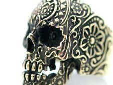 Ring Bronze Sugar Totenkopf Skull Mason Biker Rocker Mittelalter Gothic