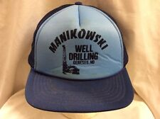 trucker hat baseball cap MANIKOWSKI WELL DRILLING retro vintage nice cool rave