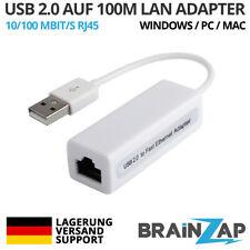 USB 2.0 zu RJ45 10/100 Mbps LAN Externe Ethernet Karte MacBook Air MacOS Win 10