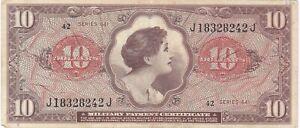 Paper Money - Military Payment Cert. - Series 641 - 1965 - 10 Dollars