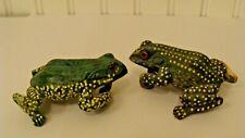 Vintage 2 Colorful Frog Figurines