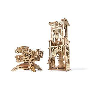 Mechanical UGEARS wooden 3D puzzle Model Archballista-Tower Construction Set