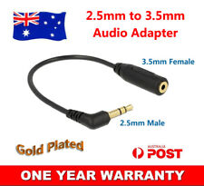 AUX 2.5mm Male to 3.5mm Female Cable Headphone Adapter Socket AV Mic 15cm