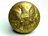 Civil War US Army Union enlisted military uniform button - correct tin back