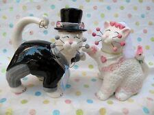 WhimsiClay cat couple Goodman & Cherish...+ free angel cat Gratitude ($18 value
