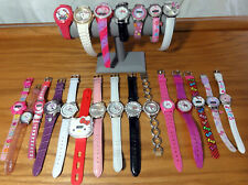 Hello Kitty Sanrio authentic 22 watch Mega Lot non-running for repair/batteries