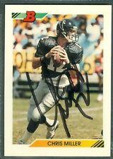 Chris Miller Football Auto 1992 Tops '92 Signature Autograph Signed Card #150
