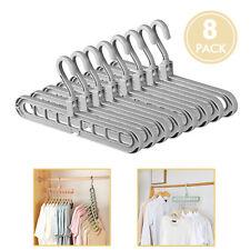 Pack of 8 Magic Hangers Clothes Space Saving Hanger Closet Organizer Plastic