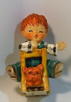 Vintage Goebel 1958 Redhead Boy and Dog BYJ 23 1958