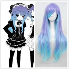 80cm Vocaloid- Anti Color Mixed The∞Holic Luka Curly Anime Cosplay wig CC208