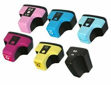 6Pk 02 Ink Cartridge For HP Photosmart C5180 C6180 C7180 C6280 C7280 8230