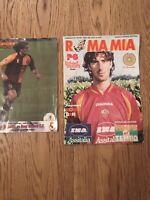 2 riviste vintage Roma Mia Forza Roma Montella maglia shirt worn match issued