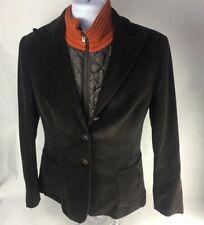 Brooksfield Mens Layered Jacket Brown Orange Blazer Quilted Button Zip Italy 44