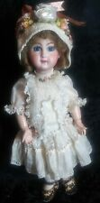 Jumeau french reproduction doll, marked 7, artist signed