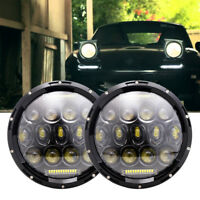 "Mazda MX-5 MX5 Miata Set 2x LED Headlights 7"" H4 Headlamp White DRL Hi/Lo Beam"