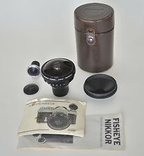 Nikon Nikkor 7.5mm f 5.6mm Fisheye lens, with finder, case, caps, and papers!
