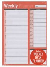 A4 Weekly Desk Planner to Do List Meal Work Plan Home Office Tear off Sheets