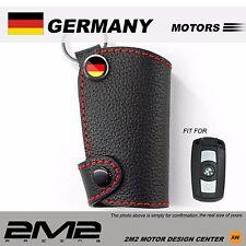 Leather Key fob Holder Case Chain Cover For BMW E81 E82 E87 E88 E90 E91 E92 E93
