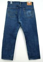 Levis Mens 505 0216 Dark Blue Regular Fit Straight Leg Denim Jeans Size 36 x 30