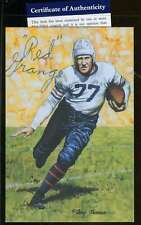RED GRANGE CERTIFIED PSA/DNA RARE GLAC GOAL LINE  AUTHENTIC AUTOGRAPH