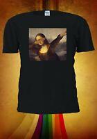 Mona Lisa Dabbing Men Women Unisex T Shirt T-shirt Vest Baseball Hoodie 3196