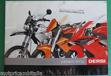 DERBI MOTO  CATALOGO POSTER  2004 BROCHURE  PUBBLICITA PROSPEKT RECLAME