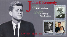 Union Island Gren St Vincent 2017 MNH JFK John F Kennedy 100th 3v M/S II Stamps