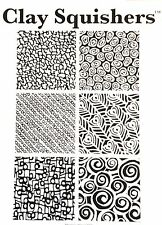 Rubber stamp Shapes by Clay Squishers, great for polymer clay