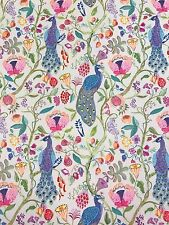 Roman Blind Voyage Barabadur Peacocks Linen Interlined Mechanised Track MTM
