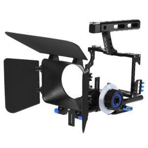 DSLR Rig Video Camera Cage Follow Focus Handle Grip for Canon Nikon Pentax R4S4